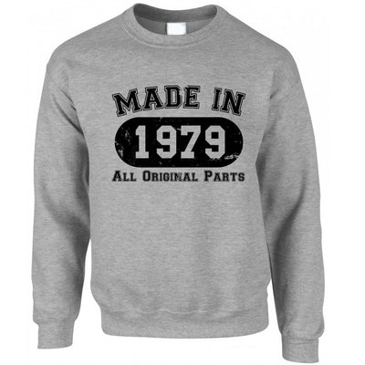 Made in 1979 All Original Parts Sweatshirt Jumper [Distressed]