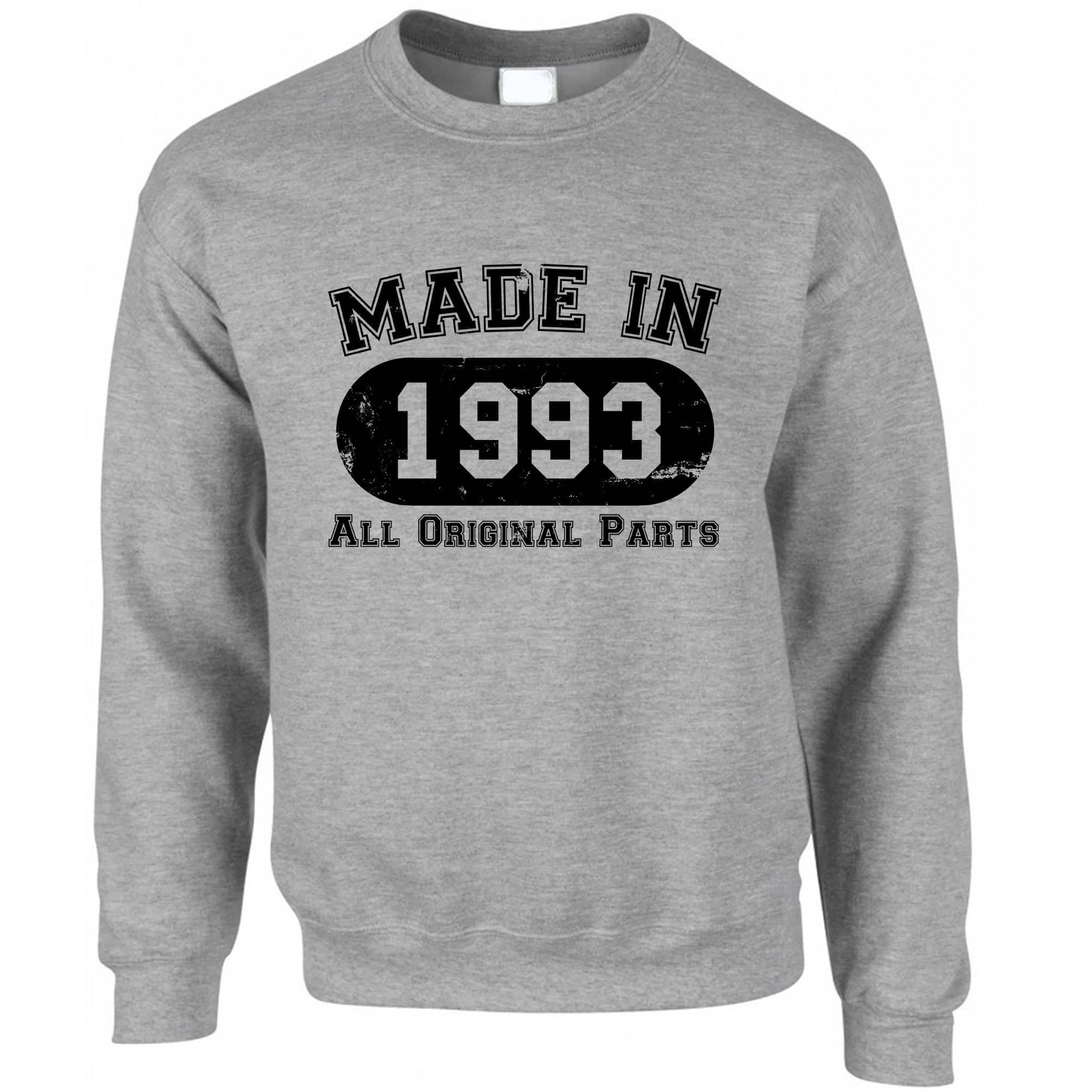 Made in 1993 All Original Parts Sweatshirt Jumper [Distressed]
