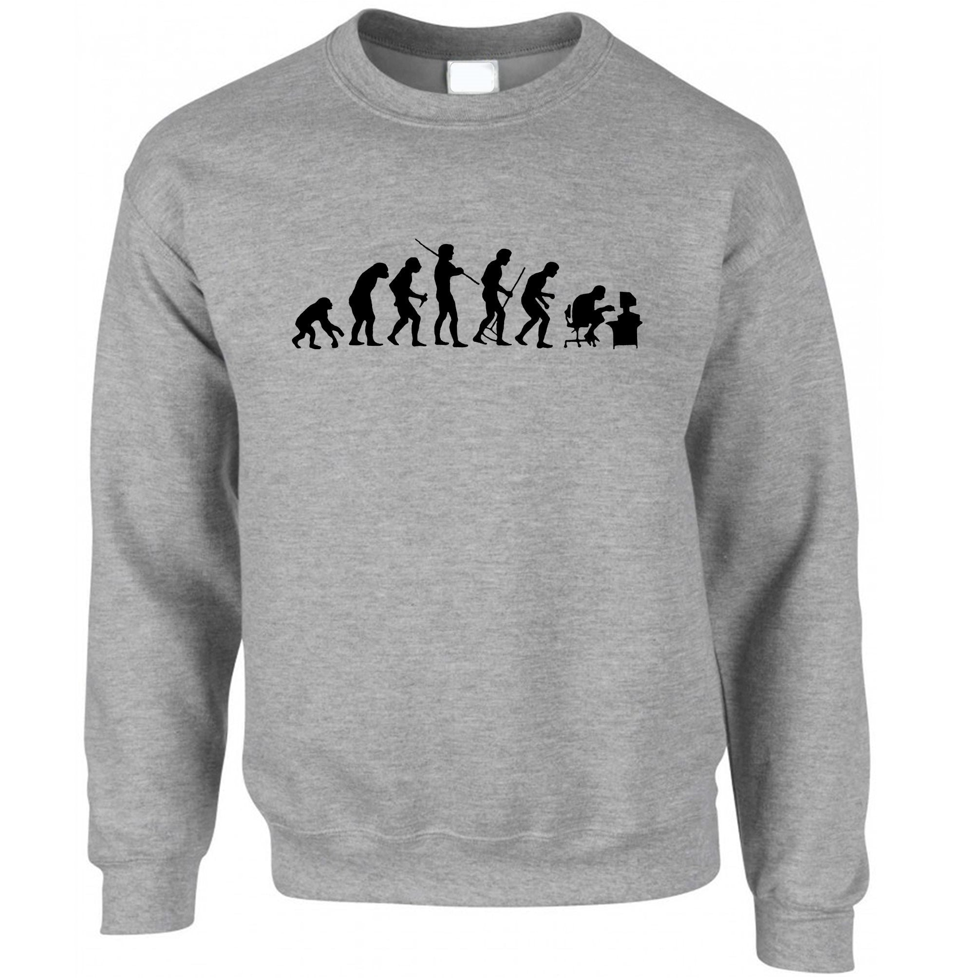Novelty Geek Jumper Evolution Of A Computer Nerd Sweatshirt Sweater