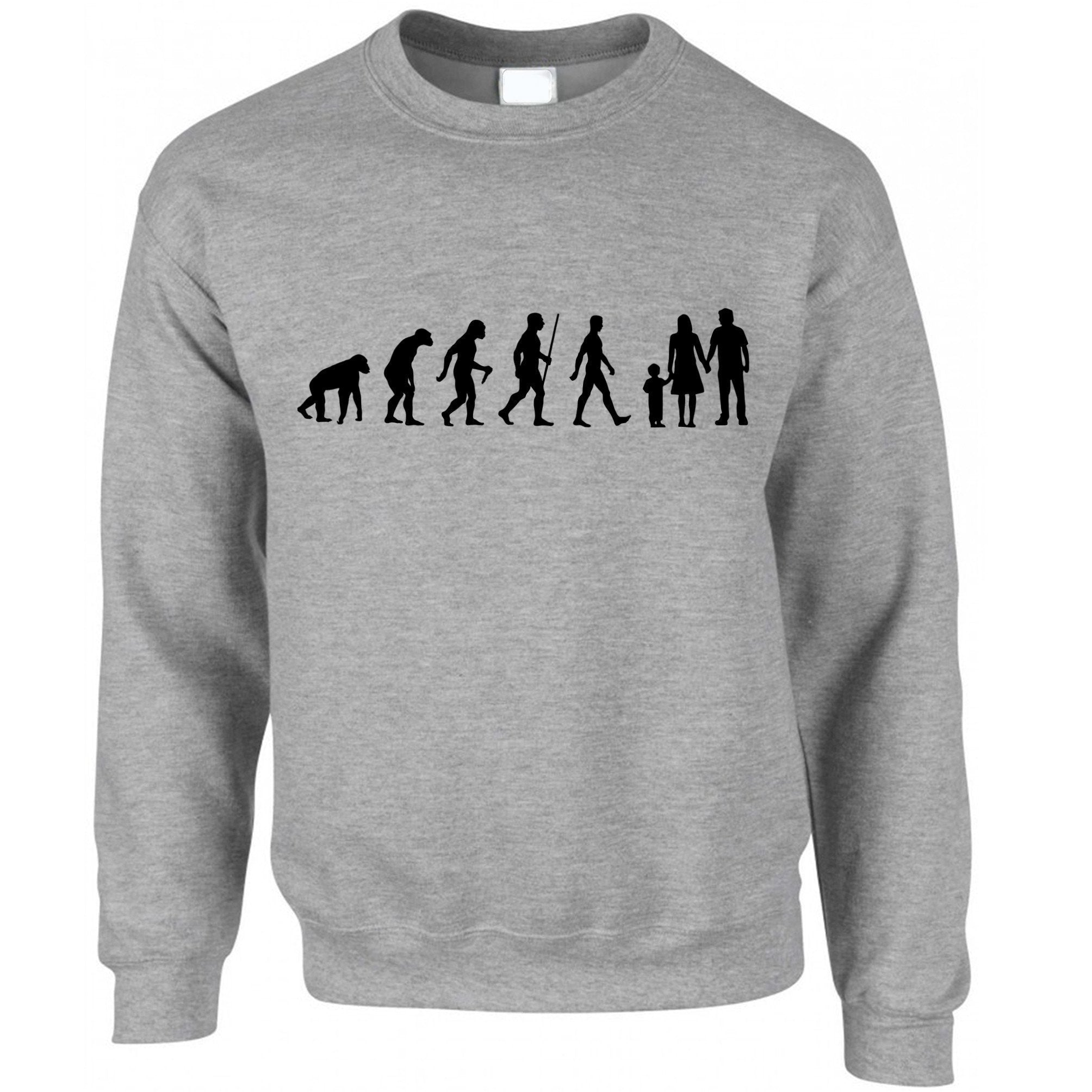 Parenthood Jumper Evolution Of A Family Two Boys Sweatshirt Sweater