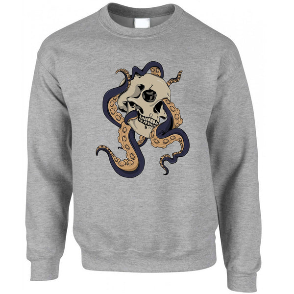 Tattoo Street Art Jumper Skull And Octopus Graphic Sweatshirt Sweater