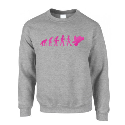 Motorcycle Jumper Neon Pink Evolution of a Biker Sweatshirt Sweater