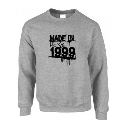 Birthday Jumper Made in 1999 Graffiti Sweatshirt Sweater