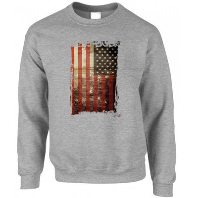 4th Of July Jumper Distressed USA American Flag Art Sweatshirt Sweater