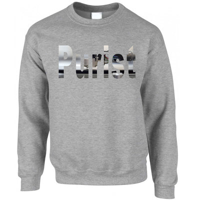 Old School DJ Jumper Purist With Record Player Sweatshirt Sweater