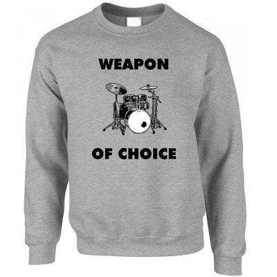Novelty Music Jumper Weapon of Choice Drums Sweatshirt Sweater