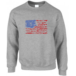 American Sweatshirt Jumper Paint Splatter US Flag