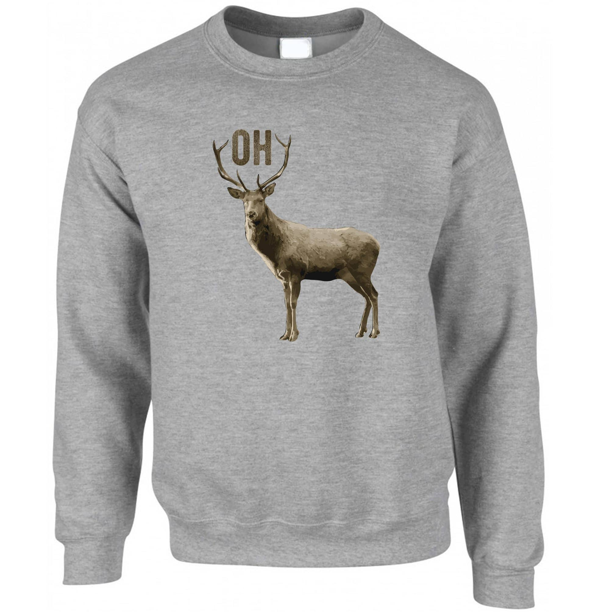 Buck Doe Jumper Funny Oh Deer Pun Slogan Sweatshirt Sweater
