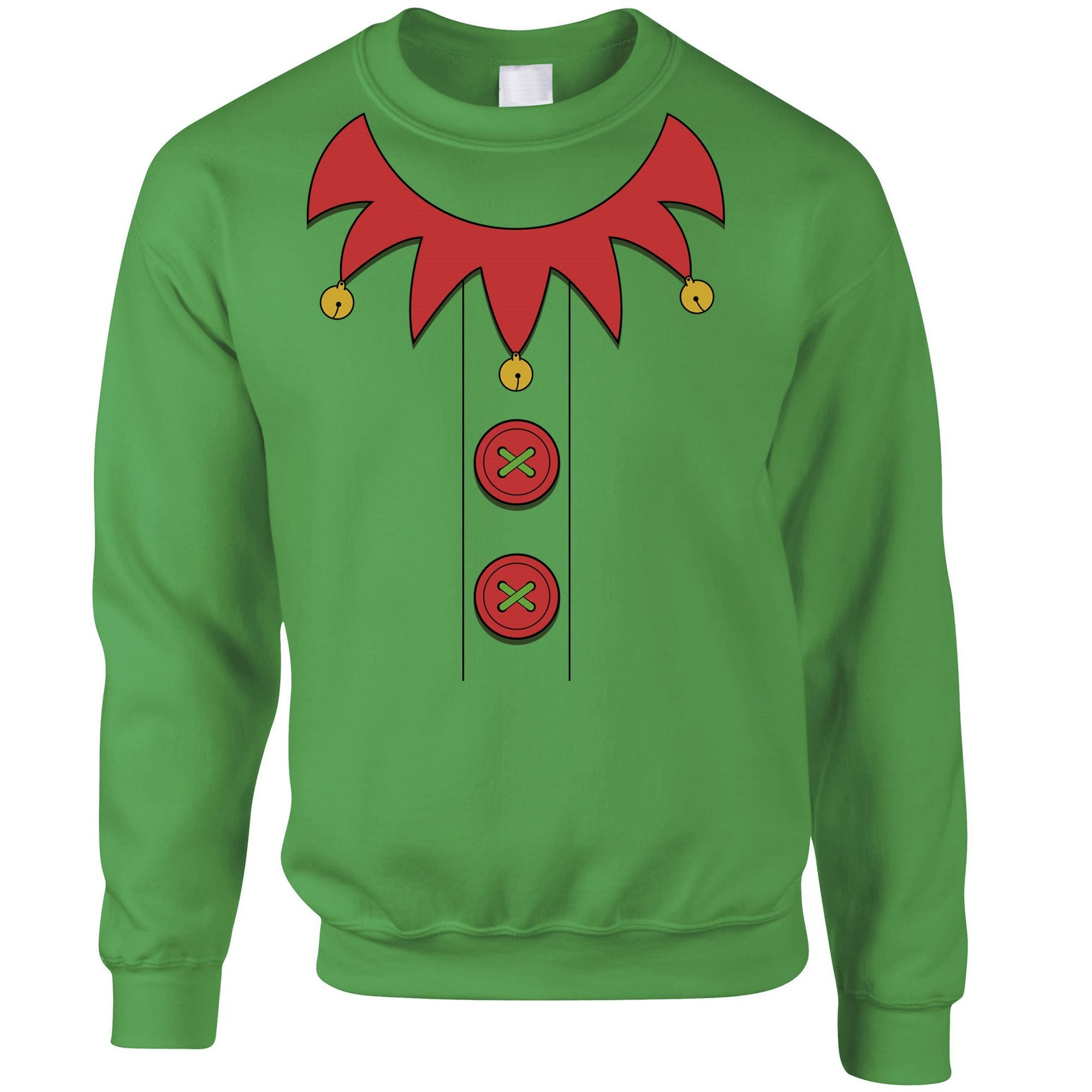 Novelty Christmas Jumper Festive Elf Party Costume Sweatshirt Sweater