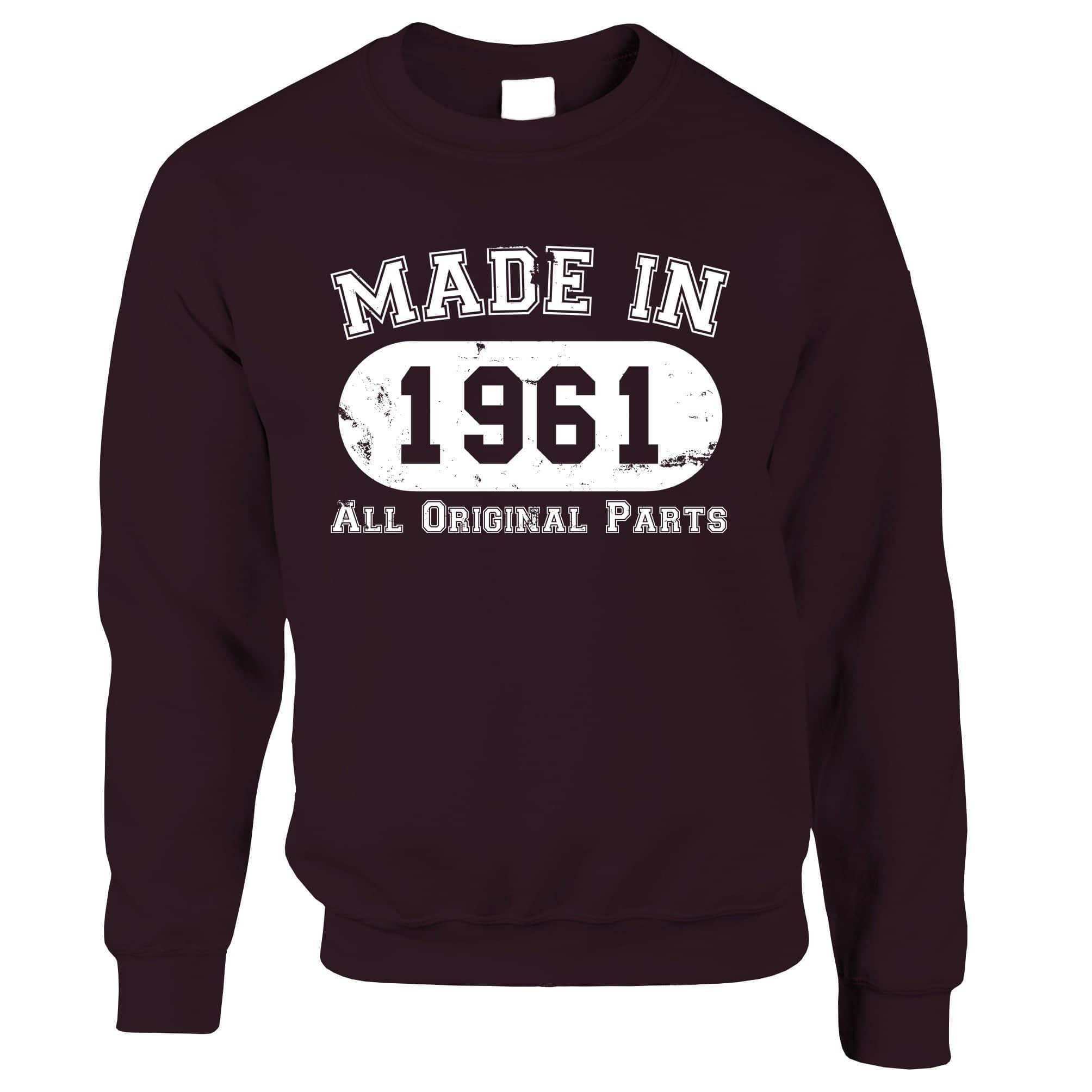Made in 1961 All Original Parts Sweatshirt Jumper [Distressed]