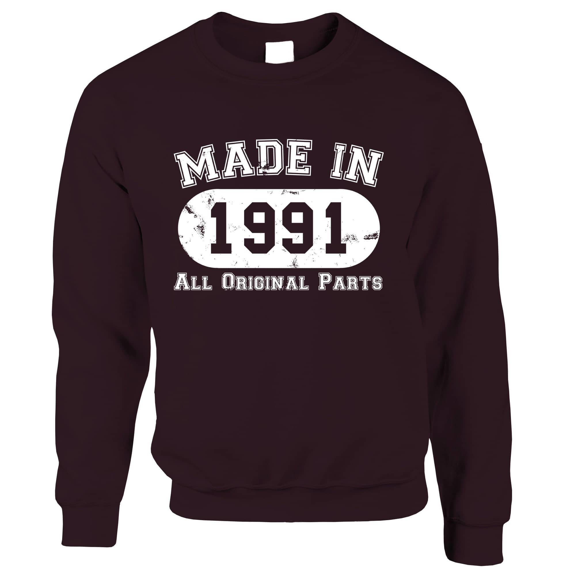 Made in 1991 All Original Parts Sweatshirt Jumper [Distressed]