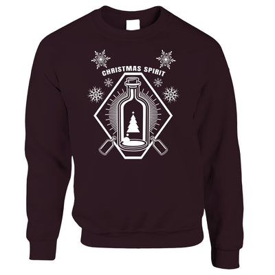 Booze Jumper Christmas Alcohol Bottle Sweatshirt Sweater