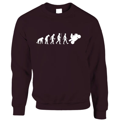 Biker Jumper Evolution of a Motorbike Rider Sweatshirt Sweater