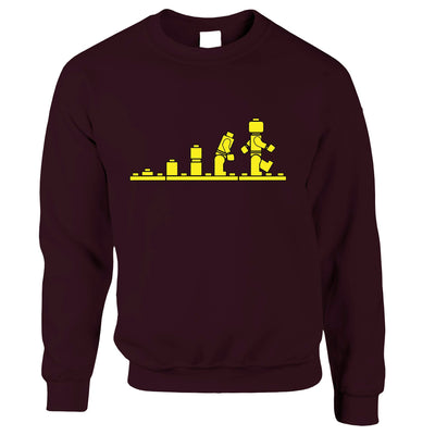Bricks Evolution Retro Jumper Novelty Toy Sweatshirt Sweater
