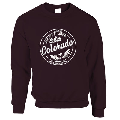 Hometown Pride Jumper Made in Colorado Stamp Sweatshirt Sweater