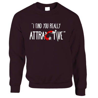 Magnets Sweatshirt Jumper I Find You Really Attractive Slogan