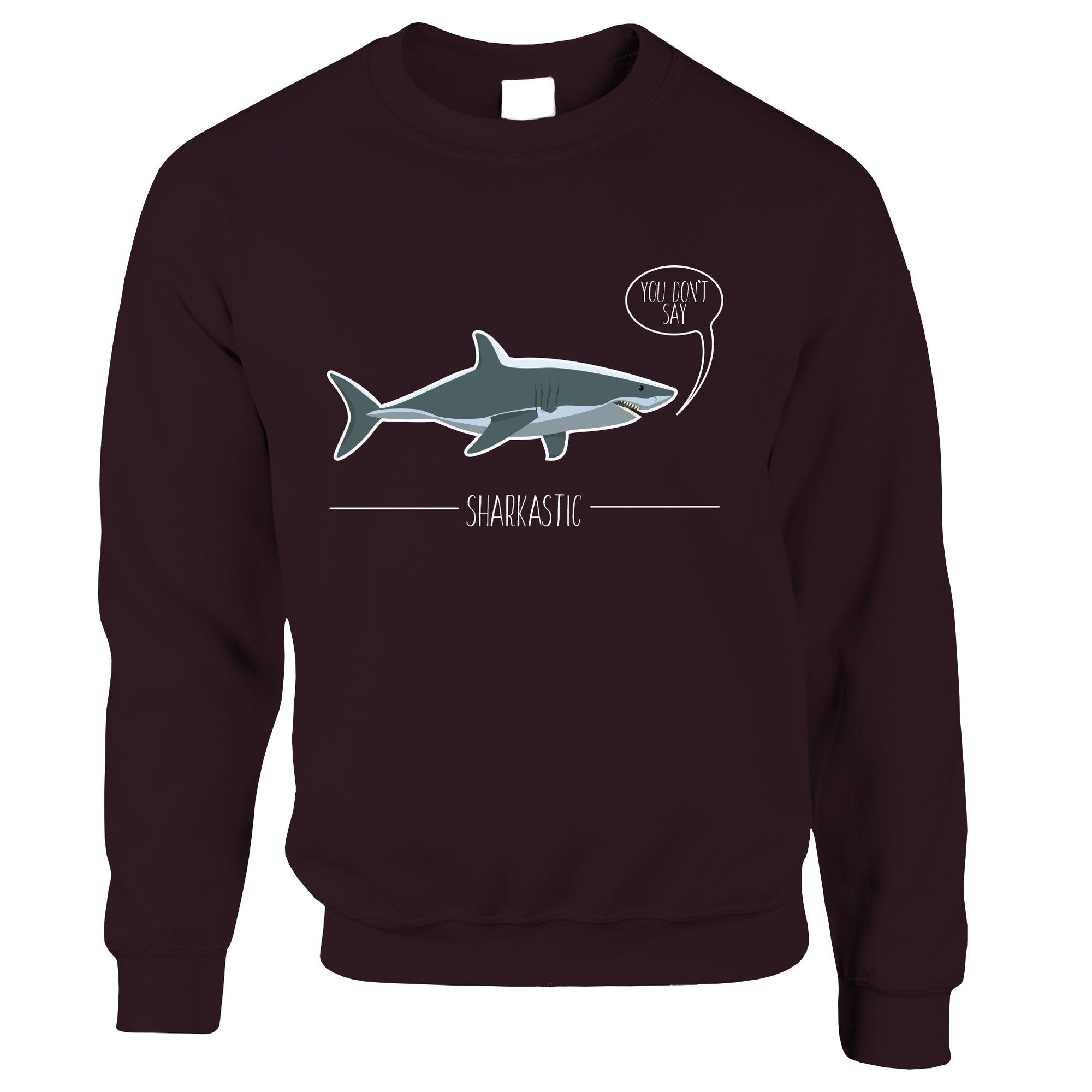 Shark Pun Jumper Sarcastic Sharkastic Joke Sweatshirt Sweater