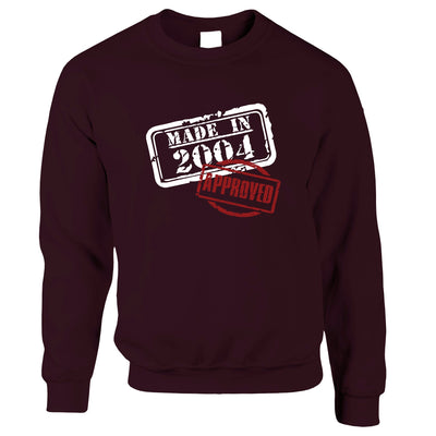 16th Birthday Jumper Distressed Made in 2004 Approved Sweatshirt