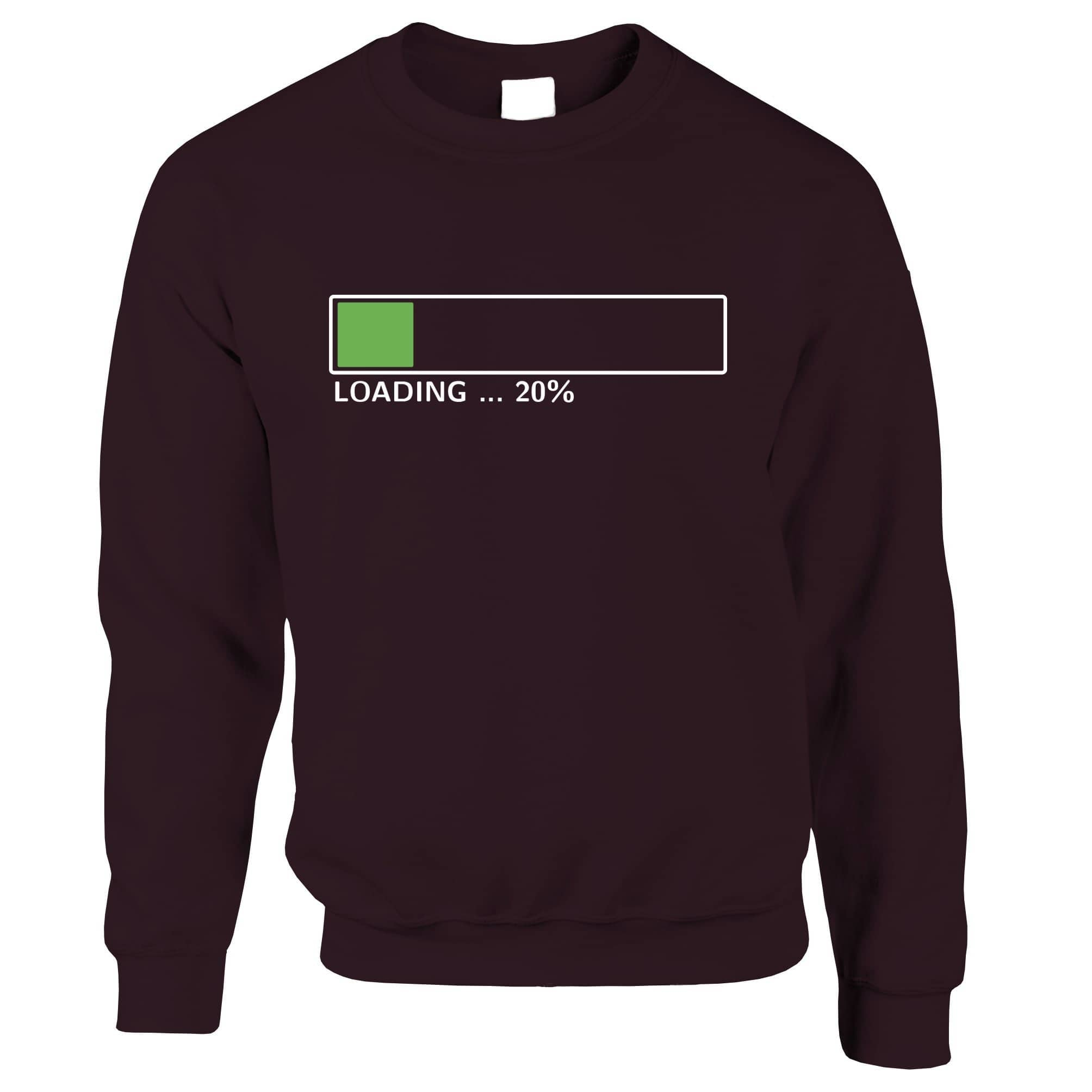 20th Birthday Jumper Loading 20% Complete Twenty Sweatshirt Sweater