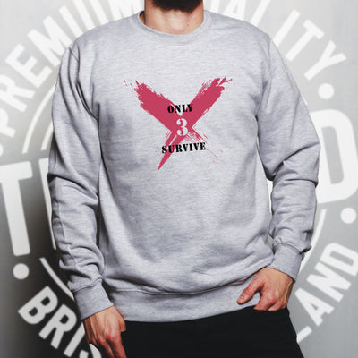 Squad Gaming Sweatshirt Only 3 Survive Slogan