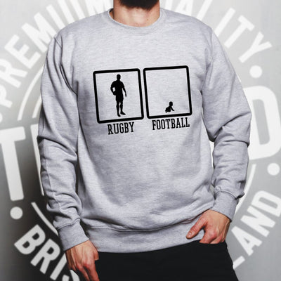 Joke Sports Jumper Rugby Vs Football Baby Novelty Sweatshirt Sweater