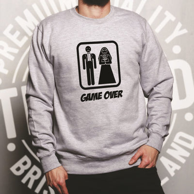 Game Over Novelty Jumper Wedding Stag Do Hen Night Sweatshirt Sweater