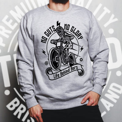 Cycling Jumper No Guts No Glory Mountain Biking Bike Sweatshirt Sweater