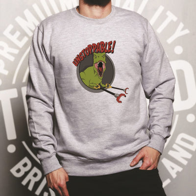 Novelty Jumper Unstoppable T-Rex With Grabber Hands Sweatshirt Sweater
