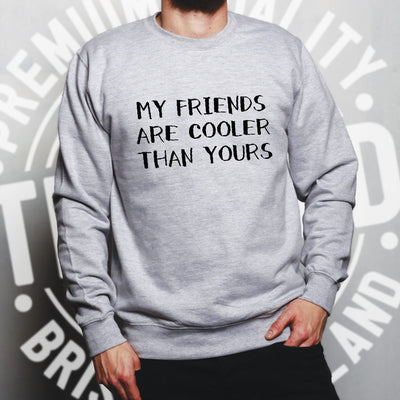 Novelty Jumper My Friends Are Cooler Than Yours Joke Sweatshirt Sweater