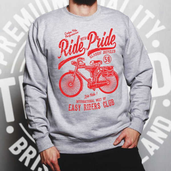 Cycling Jumper Ride With Pride Retro Cyclist Bike Sweatshirt Sweater