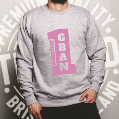 Mother's Day Sweatshirt Jumper Number One Grandma