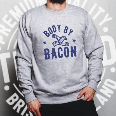 Novelty Food Jumper Body By Bacon Joke Logo Sweatshirt Sweater