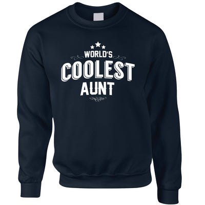 Novelty Jumper Worlds Coolest Aunt Slogan Sweatshirt Sweater