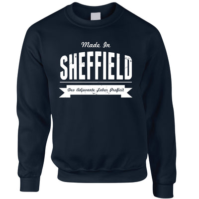 Hometown Pride Jumper Made in Sheffield Banner Sweatshirt Sweater