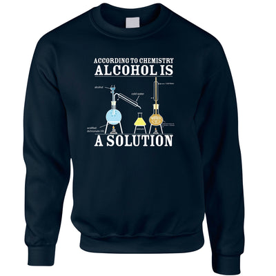 Pub Jumper According To Chemistry Alcohols a Solution Sweatshirt