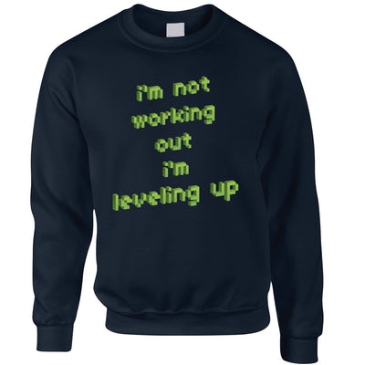 Funny Gaming Sweatshirt Jumper Not Working Out, I'm Levelling Up