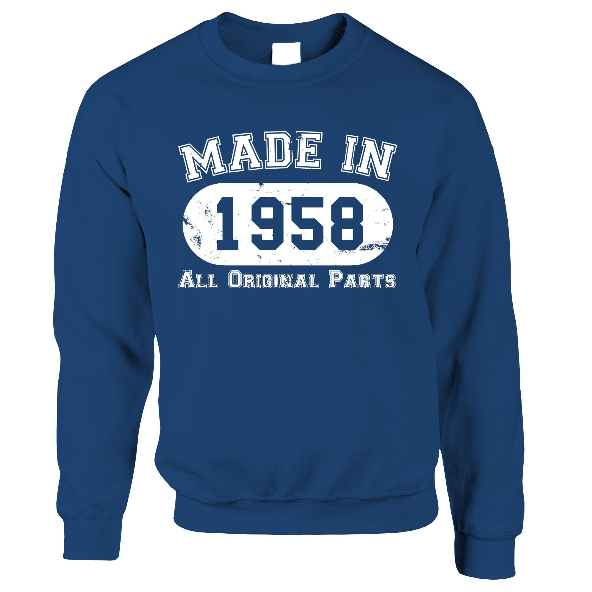 Made in 1958 All Original Parts Sweatshirt Jumper [Distressed]