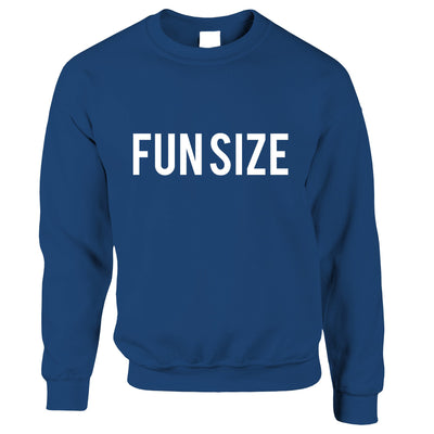 Short Person Jumper Fun Size Novelty Slogan Sweatshirt Sweater
