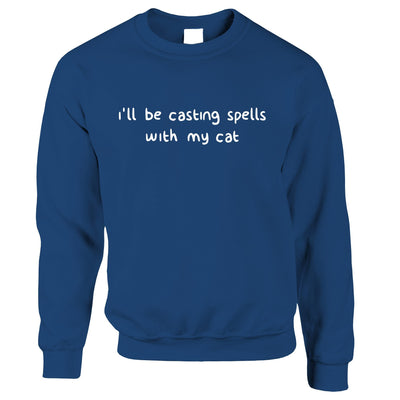Halloween Jumper I'll Be Casting Spells With My Cat Sweatshirt Sweater