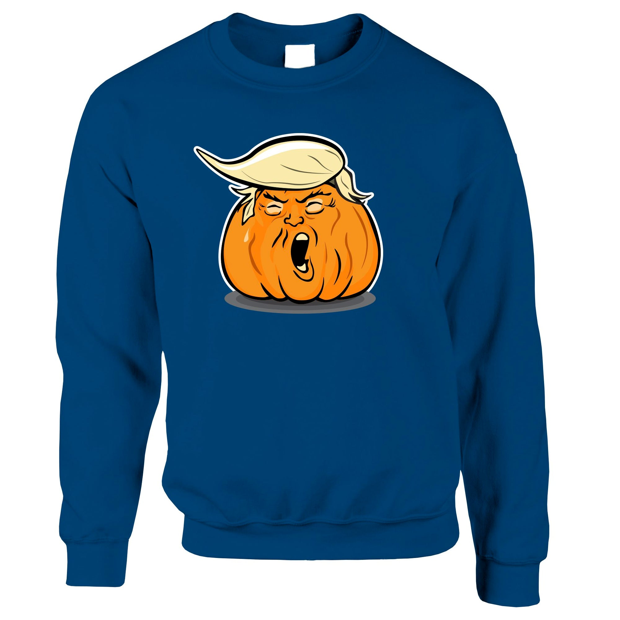 Donald Trump Jumper Haloween Trumpkin Joke Sweatshirt Sweater