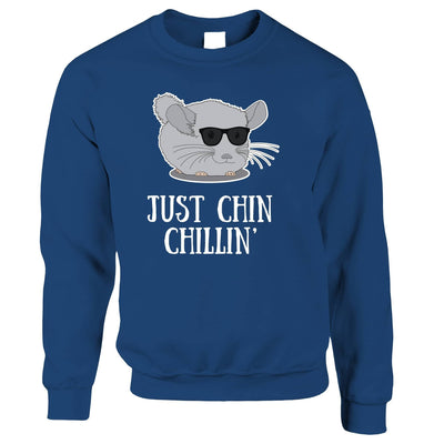 Novelty Jumper Just Chin Chilling Sunglasses Sweatshirt Sweater