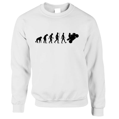 Biker Sweatshirt Evolution of a Motorbike Rider