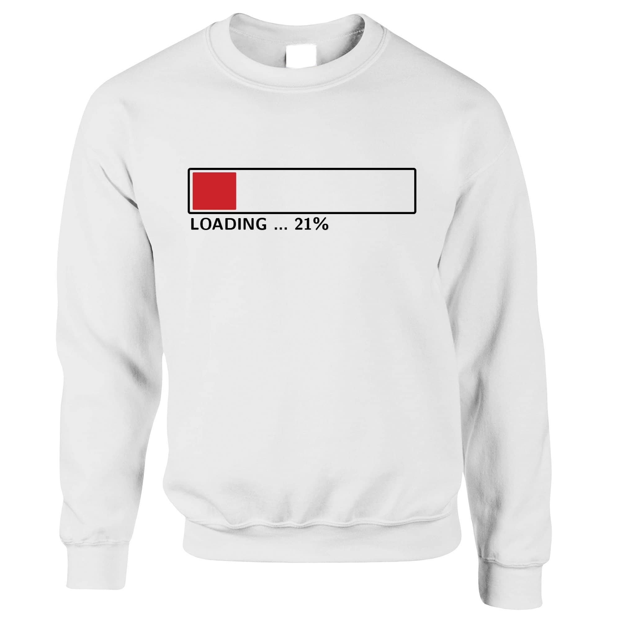 21st Birthday Jumper Loading 21% Complete Twenty One Sweatshirt Sweater