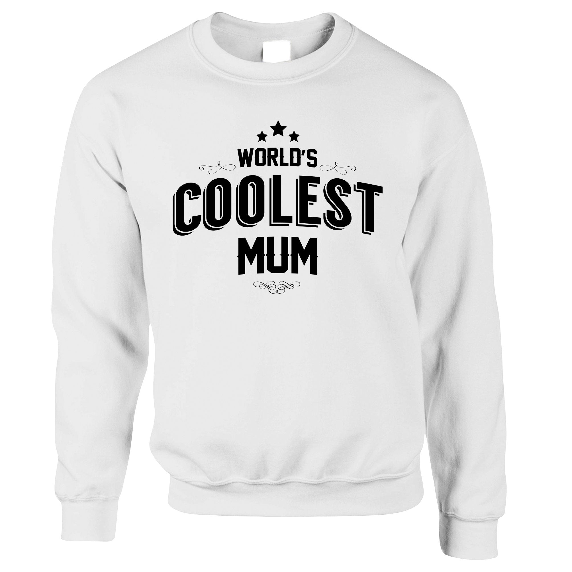 Novelty Jumper Worlds Coolest Mum Slogan Sweatshirt Sweater