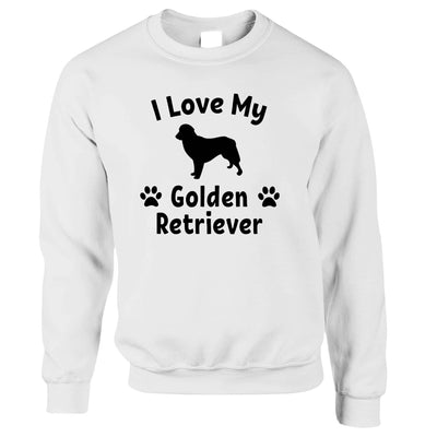 Dog Owner Jumper I Love My Golden Retriever Sweatshirt Sweater