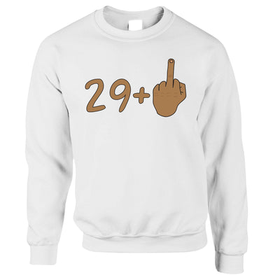Rude 30th Birthday Jumper Tanned Middle Finger Sweatshirt Sweater