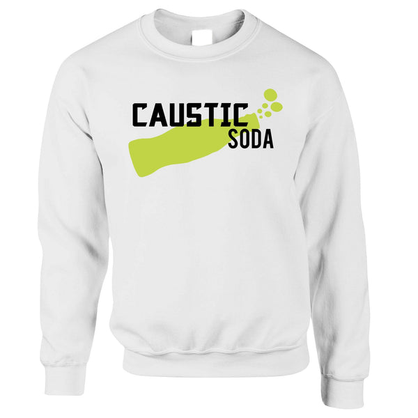 Novelty Gaming Jumper Caustic Soda Drink Sweatshirt Sweater
