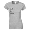 Table Tennis Is Life Womens T Shirt Bat & Ball
