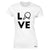 Table Tennis Womens T Shirt Love Blade Ping Pong Player Bat & Ball