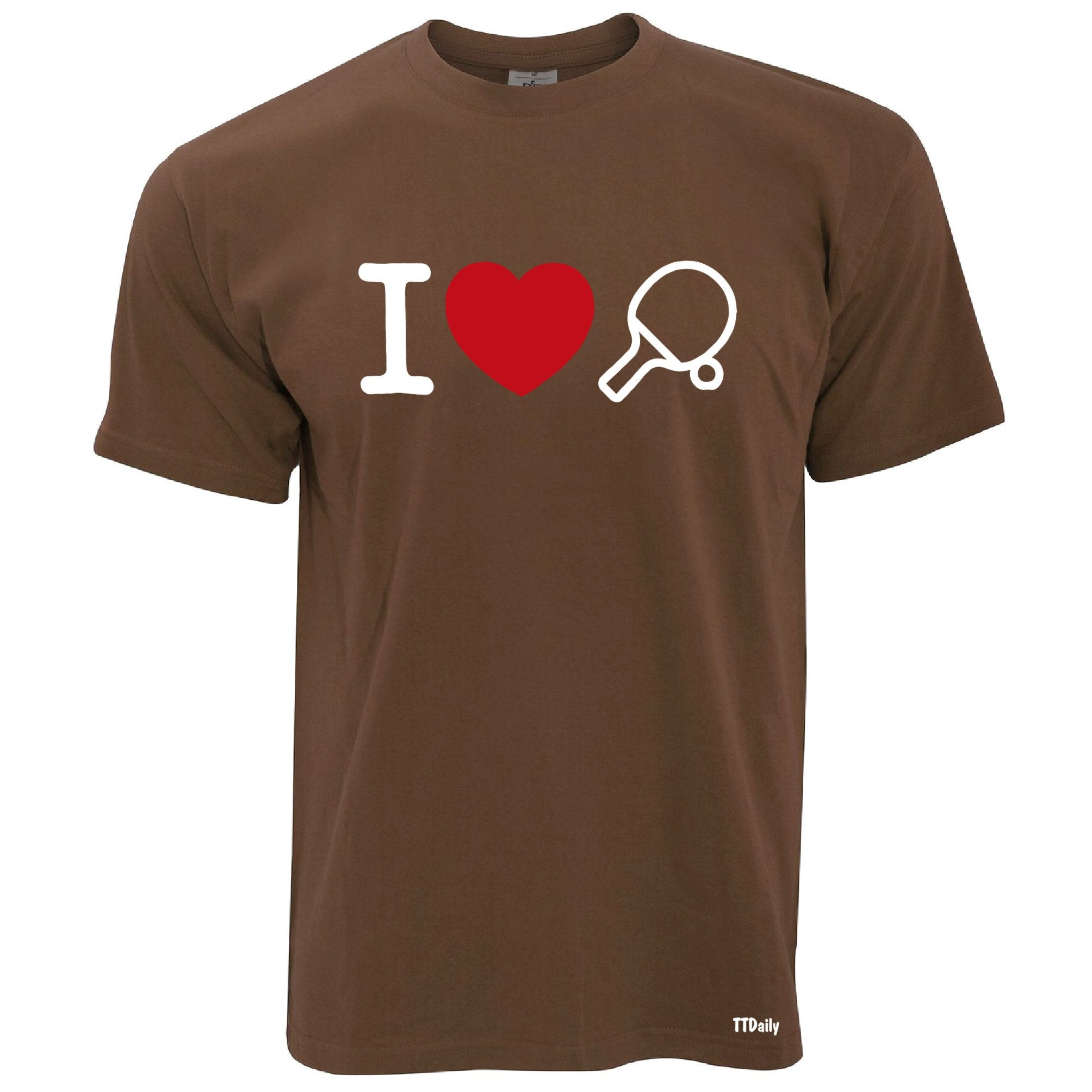 I Love Table Tennis T Shirt Ping Pong Player Heart Design